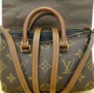 Louis Vuitton Canvas Pallas Monogram Leather Bag